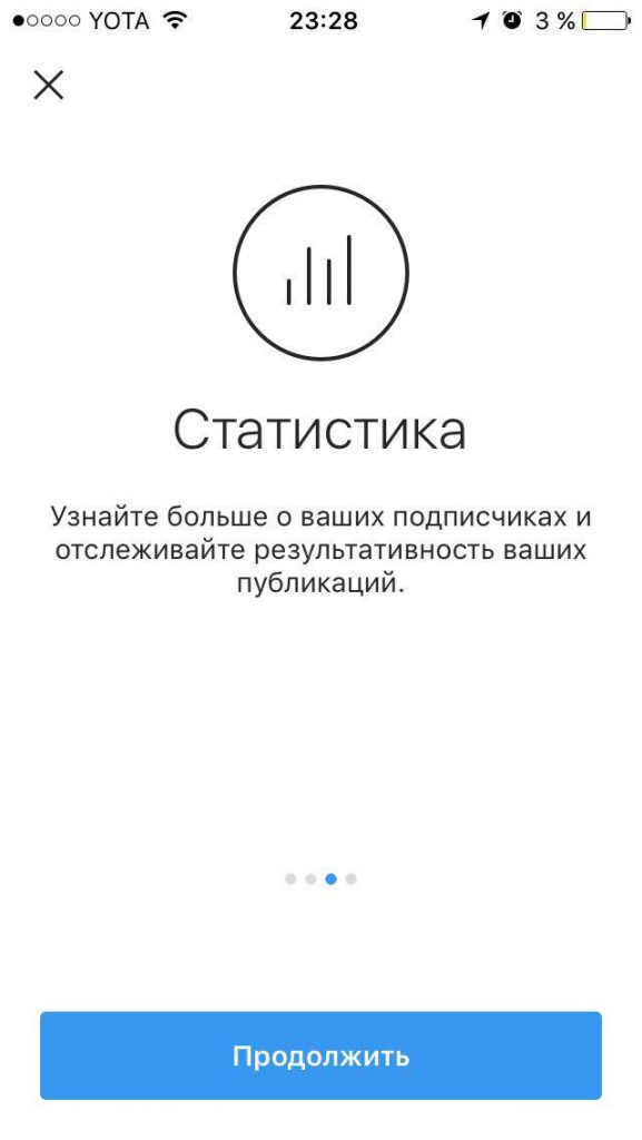 статистика instagram business